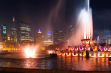 Fountain Against The Downtown ...