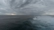 Stormy weather over ocean, aerial