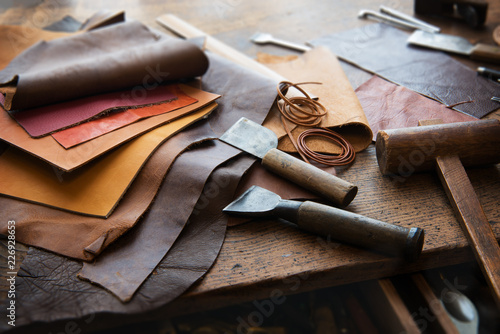 Leather craft or leather working Canvas-taulu