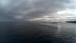 Aerial, grey skies over Mentawai Island