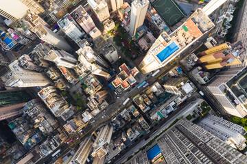 Top view of Building in Hong Kong