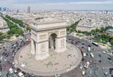 Fototapeta Fototapety Paryż - Aerial view of Arc of Triumph, Paris
