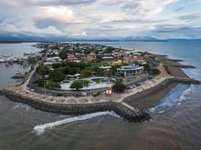 Beautiful Aerial View Of Puntarenas Town In Costa Rica