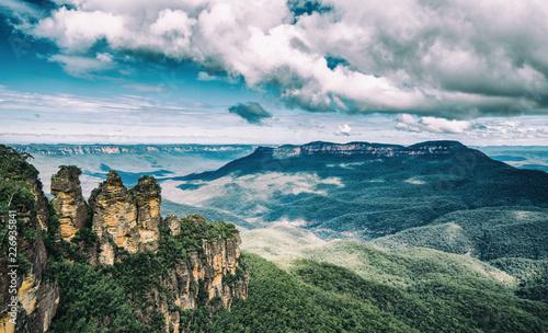 ブルーマウンテンズ、オーストラリア、世界遺産、風景