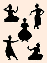 Indian Dancer Silhouette 02. Good Use For Symbol, Logo, Web Icon, Mascot, Sign, Or Any Design You Want.