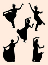 Indian Dancer Silhouette 03. Good Use For Symbol, Logo, Web Icon, Mascot, Sign, Or Any Design You Want.