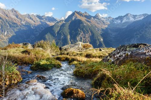 Fényképezés  Quellwasser in den Alpen