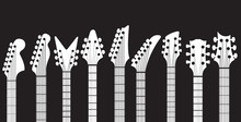 Neck Guitar Headstock Vector Set
