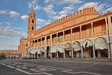 Faenza, Ravenna, Emilia-Romagna, Italy: Piazza Del Popolo (People's Square) And The Medieval Palazzo Del Podesta