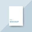 Simple business card design mockup vector