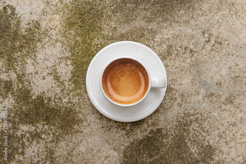 Wall Murals Coffee beans top view of espresso coffee