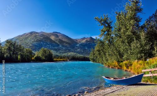 Canoeing on the Kenai River in Alaska Canvas Print