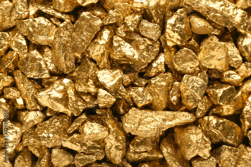 Many gold nuggets as background Wallpaper Mural