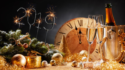 New Years Eve 2019 party background