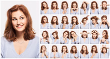 Young Woman, Emotions, Face, C...