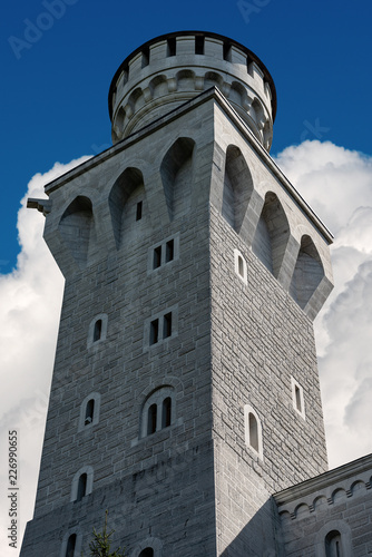 Foto op Plexiglas Historisch geb. Tower of the Neuschwanstein Castle - Schwangau Germany