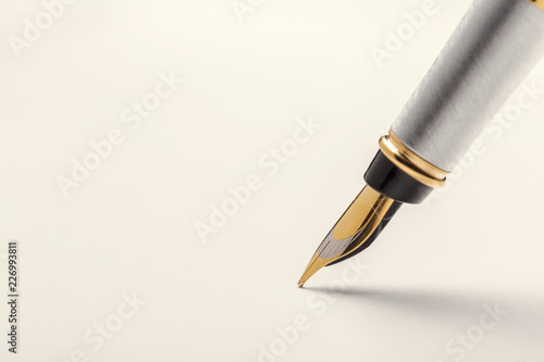 Fountain pen isolated on white background Canvas Print