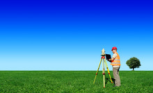 Surveyor On Green Field