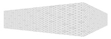 Diagonal White Brick Wall Text...