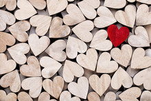 Background With Wooden Hearts,...