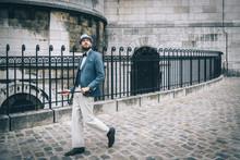 Homme Style Retro Au Chapeau E...