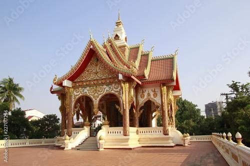 Deurstickers Bedehuis Temple in Laos