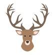 Deer head illustration, Deer Head Silhouette, Deer logo