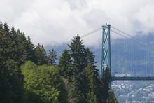 Lion's Gate Bridge In Vancouver, British Colombia