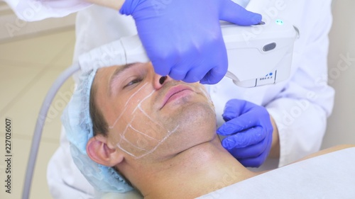Fotografie, Obraz  Non-surgical face lifting