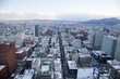 Sapporo cityscape (urban landscape) from top building JR Tower Observation Deck T38 in Japan