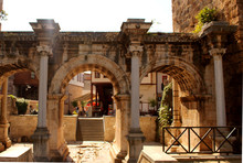 Hadrian Gate In Antalya, Historical Touristic Place In City Center