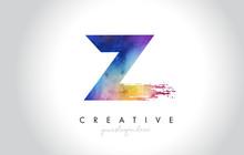 Z Paintbrush Letter Design Wit...