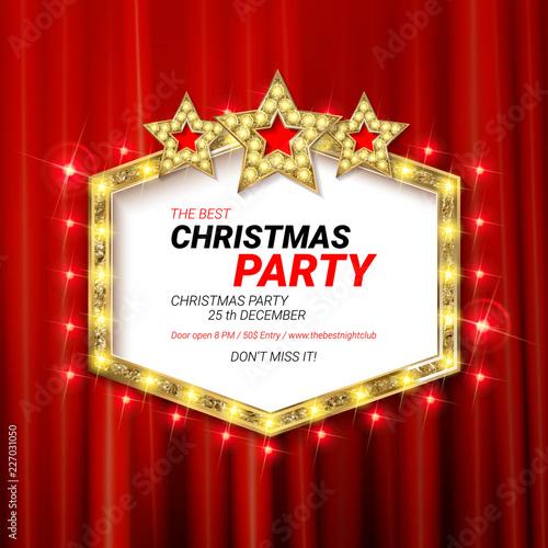 Photo  Invitation merry christmas party 2019