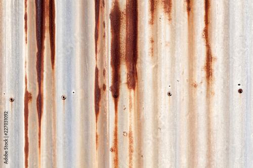 Aluminium Prints Firewood texture 錆びたトタン