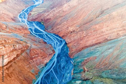 Valokuvatapetti stunning view of xinjiang canyon