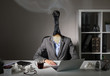 canvas print picture - Conceptual photo illustrating burnout syndrome at work