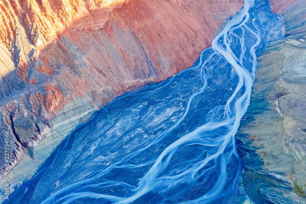 canyon riverbed closeup
