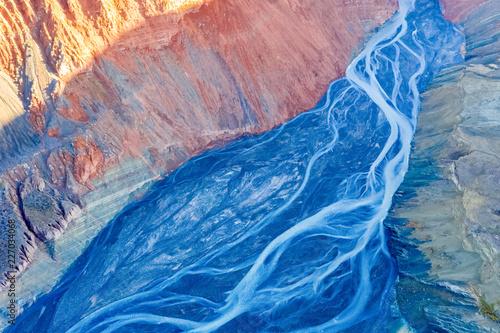 Deurstickers Canyon canyon riverbed closeup