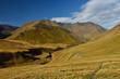 Views of beautiful Caucasian mountains, during trekking from Tusheti to Khevsureti