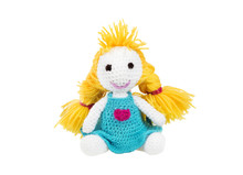 Crochet Doll. Handmade Cute Knitting Doll. Amigurumi.