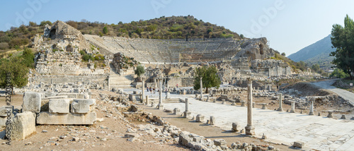Fototapeta Panorama of Ephesus with its Amphitheatre - Turkey obraz