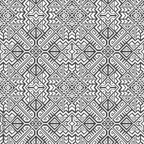 Foto auf AluDibond Boho-Stil Creative Vector Geometric Seamless Pattern