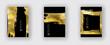 Vector Black and Gold Design Templates set