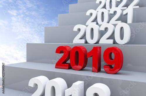 Fotografía  3D Illustration Stufen 2019 Himmel