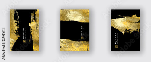 Fototapeta Vector Black and Gold Design Templates set obraz