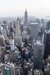 Manhattan downtown skyline panorama, New York City, USA.