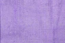 Closeup Purple Hessian Texture Background, Fiber Pattern Background, Blank Purple Background