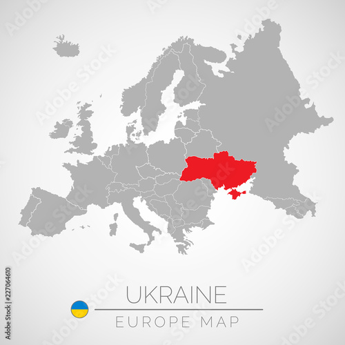 Ukraine On Map Of Europe.Map Of European Union With The Identication Of Ukraine Map Of