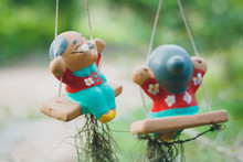 Clay Doll For Garden Decorative