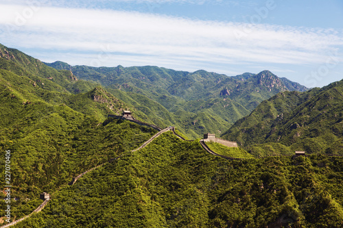 Deurstickers Chinese Muur The famous Great Wall of China
